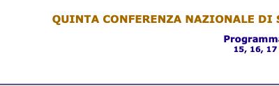Quinta Conferenza Nazionale di Statistica
